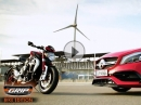 AMG A45 vs. MV Agusta Brutale 800 Dragster - Making of Jeny Kuck | GRIP - BIKE-EDITION