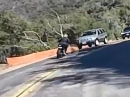 Anfängerfehler: Kurve ausgegangen, Beinah Crash Gegenverkehr = Sicherheitstraining