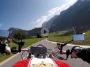 Anfahrt Silvretta Hochalpenstraße mit Ducati Monster
