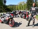 Aprilia, KTM, Yamaha, BMW Super Naked Bike Vergleichstest von MCN