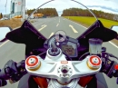 Aprilia RSV4 RR: 260km/h - 40km/h - Notbremse ABS Test