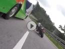 Aprilia RSV4 vs Kawasaki ZX-10R - Autobahn andrücking