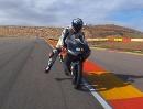 Aragon mit Test Moto3 KTM 250 ccm gegen 1000 ccm