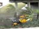 Asphalt knutschen - Motorrad Kernschrott, Fahrer Schürfing