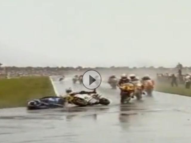 Assen (Holland) 500ccm Grand Prix 1985 - Regenrennen geprägt von Stürzen