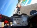 Attacke: Panigale V4R, Chaz Davies, Alessandro Valia in Jerez beim anglühen