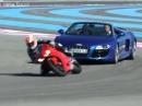 Audi R8 V10 Spyder vs. Ducati Panigale 1199 via TFI