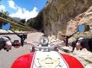 Auffahrt von Mori zum Monte Baldo / Rifugio Graziani SP3 mit Ducati Monster