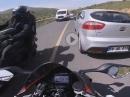 Außenspiegel trifft Autotür! Crash, Schutzengel aufgepasst
