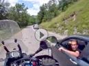 Auto vs Motorrad - Ein Rambo am Col de la Madeleine