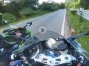 Autobahn, abgedrängt, Crash riskiert - BMW S1000RR vs Kawasaki ZX10R
