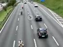 Autobahn FlyBy in flott - Abendessen wartet - Bäämm