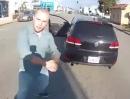 Autofahrer schlägt zu: Ich hau Dich auffe Fresse, wenn du mich nicht vorbei lässt ...