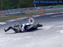 Böse. BMW Crash Nordschleife - Hinten gebremst? Dreck?