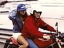 Ayrton Senna & Adriane Galisteu 1993 auf Ducati Monster in Monaco