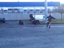 Backflip / Bikeflip Honda CBR 600 - Wheelie Crash