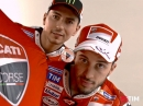 Backstage Ducati Fotoshooting:  Jorge Lorenzo,  Andrea Dovizioso