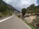 Barranco de las Gargantas über die A-2205. Pyrenäen Tour 2018 mit BMW R1200GS