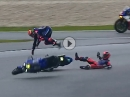 Battle, Crash Michael van der Mark & Mike di Meglio -Sepang (8H) 2019 - FIM Endurance WM