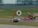 Battle Schwantz vs. Lawson Assen 1992 endet im Kiesbett