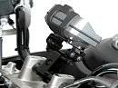 Befestigungsmöglichkeiten von Navigation und Kamera am Motorrad von SW-Motech