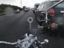 Bei Regen in die Eisen gepackt ... und verkackt - Suzuki Intruder Crash im Regen