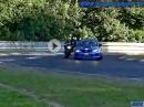Beinah Crash: Auto vs Motorrad - das Übel der Nordschleife
