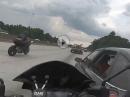 Beinah Crash: Ballern auf der Bahn, dann zieht einer raus ...