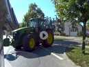 Beinah Crash mit Traktor - hätte böse enden können