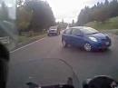 Beinah Crash: Der Polizei die Vorfahrt zu nehmen ist ganz suboptimal
