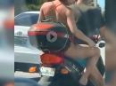 Beinrasur: Sozia rasiert sich im Autobahn-Stau die Beine - wie geil ist das denn? :-) :-)