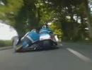 Benzinierte Menschlinge auf drei Rädern. Geile Sidecar Compilation der Isle of Man