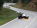Bergrennen Landshaag 2012: Seitenwagen Crash Fritz Behringer