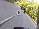 Bergrennstrecke (D111) nach Chamrousse (Frankreich)