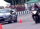 Beschleunigung: Suzuki Hayabusa GSX1300R vs Nissan GT-R Switzer R850