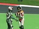 Biaggi räumt Fabrizio ab. Was die beiden sich wohl zu sagen haben?