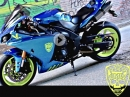 BikePorn: Yamaha YZF-R1 RN22 in Chrom Blau Wrap - Geil