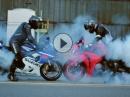Bikeporn, Burnout (Suzuki GSX-R 750, Honda CBR1000RR