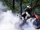 Bikeporn Honda Fireblade - Wheelie Burnout Slowmotion