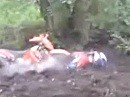 Blitz Abflug - Übel wenn das Motorrad abrupt stecken bleibt.