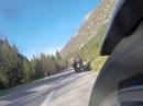 BMW 1600GT vs. Kawasaki Z650 Cafe - Soca Tal, Slovenien