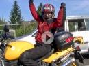 BMW Motorrad mit Stützräder - Motorradfahren mit Handicap