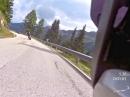 BMW GS jagen am Passo Valles, Dolomiten