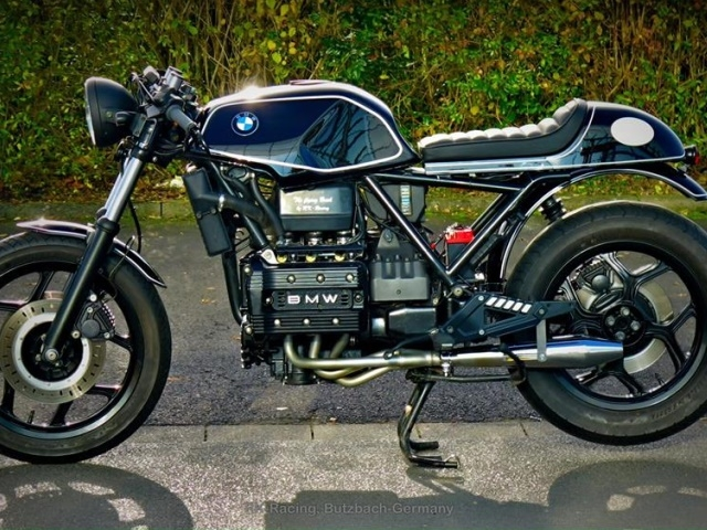 bmw k75 cafe racer umbau the flying brick by rk racing. Black Bedroom Furniture Sets. Home Design Ideas