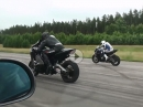 Zündung: BMW M5 Turbo vs BMW S1000RR vs 442 RWHP Suzuki Hayabusa Turbo