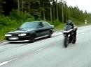 BMW M5 Turbo vs Yamaha R1