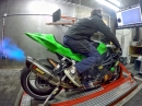 BMW S1000RR (217,2 PS) RexXer ECU Tuning, Full Akrapovic - MGM Technik Dynorun