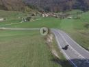 BMW S1000RR aus der Luft aufgenommen