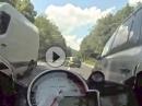 BMW S1000RR Beinah Crash: Eine Sekunde abgelenkt, dann wurde es eng