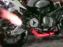 BMW S1000RR: Dauervollgas, Krümmer rot macht den stärksten Bayer tot